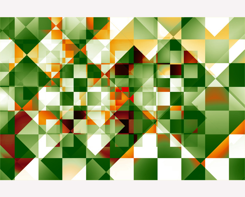Digital Abstract Art Oilve Green